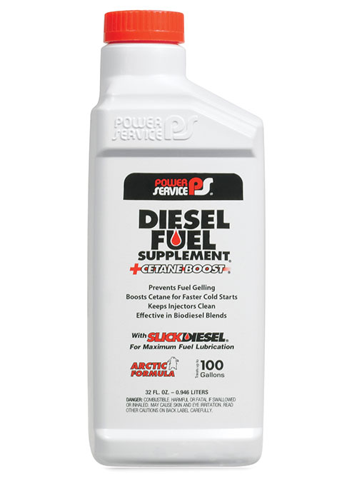 Bottiglia di additivo Diesel Fuel Supplement di Power Service per prevenire il congelamento del carburante