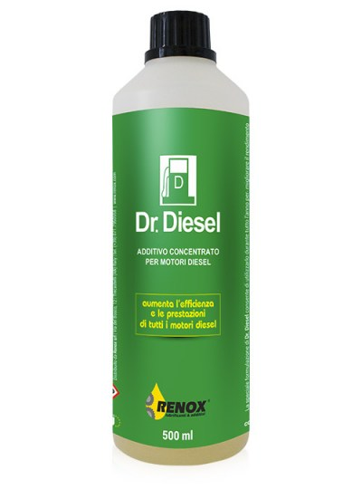 Bottiglia di additivo concentrato per auto a gasolio Dr. Diesel da 500 ml