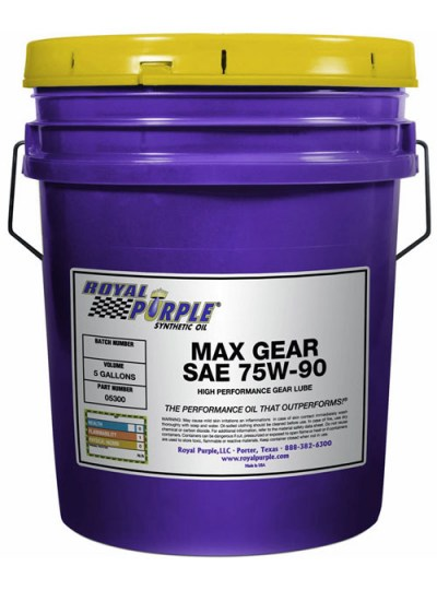 Tanica di olio per cambi e differenziali Royal Purple Max Gear 75W90 da 19 lt
