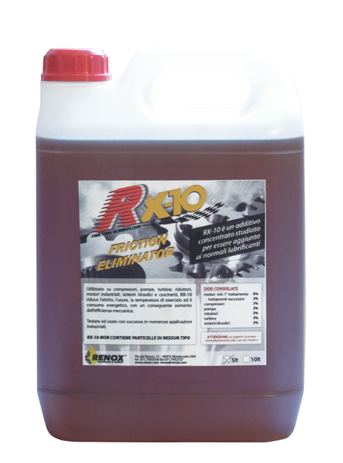 Tanica di additivo olio RX-10 Friction Eliminator da 5 lt